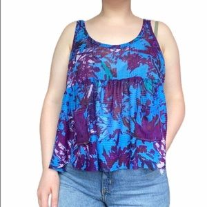Free People Lightweight Colorful Tank Top